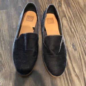 DV velvet loafers size 10